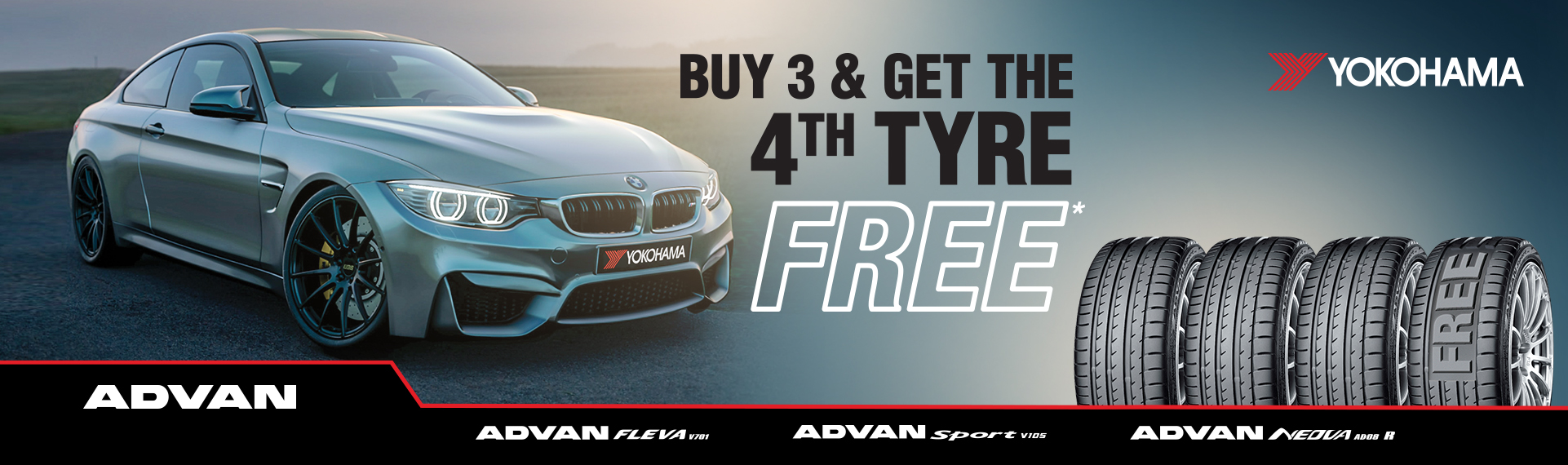 October 2020 Offer Buy 3 & Get the 4th Tyre FREE