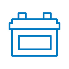 Battery Supply Icon Blue