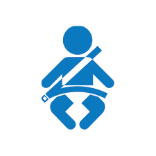 Child Restraint Fitting Icon Blue