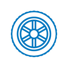 Quality Wheels Icon Blue