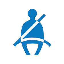 Seatbelt Safety Icon Blue